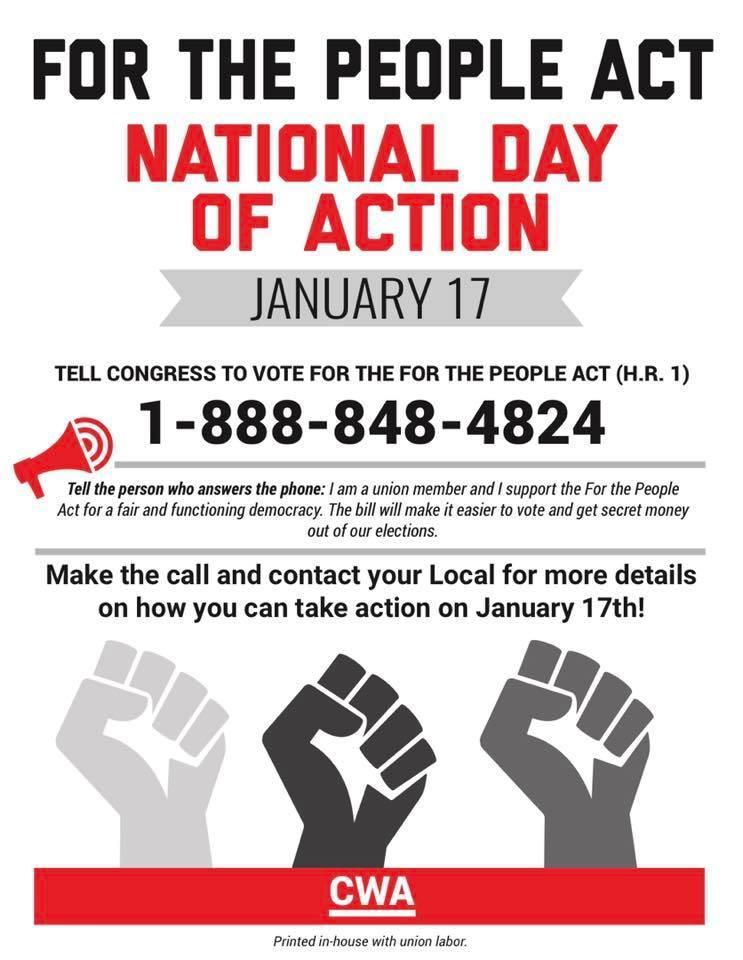 CWA National Day of Action January 17, 2019